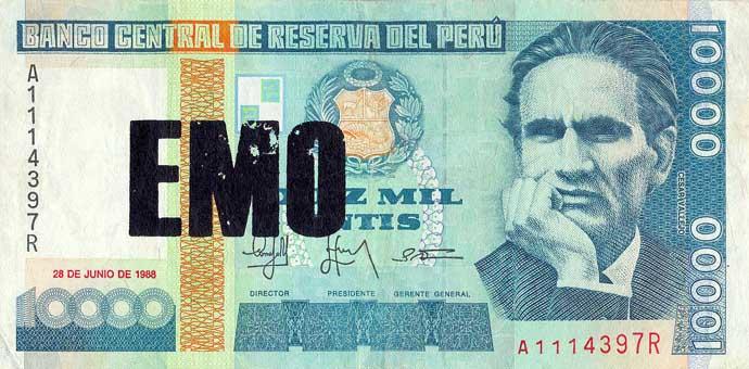 Emo - Serie Poco o Nada, serigrafia sobre billetes. 2012