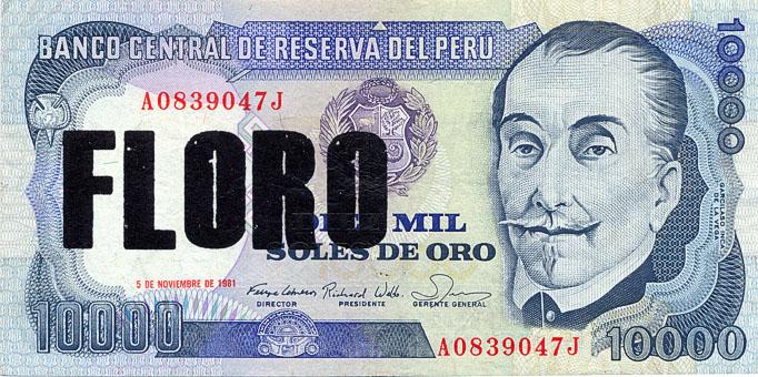 Floro - Serie Poco o Nada, serigrafia sobre billetes. 2012