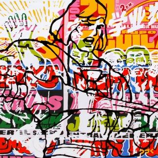 Da Pauer, Mixta sobre lienzo 100cm x 100cm 2012