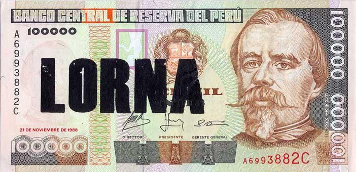 Lorna - Serie Poco o Nada, serigrafia sobre billetes. 2012