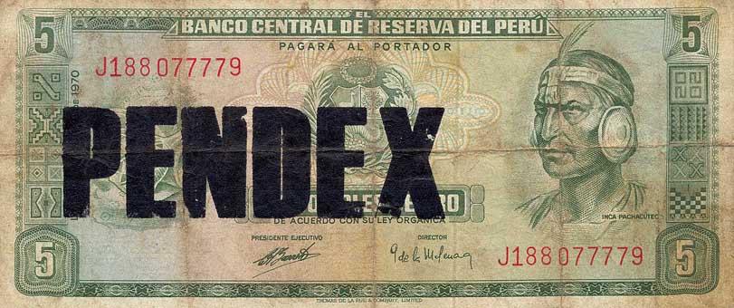 Pendex - Serie Poco o Nada, serigrafia sobre billetes. 2012