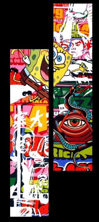 Da filin 1-2, Oleo sobre lienzo 150cm x 35cm (cada uno) 2012