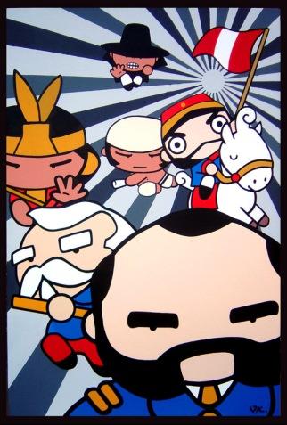 Sweety Action Heros, oleo sobre lienzo 150cm x 100cm - 2007